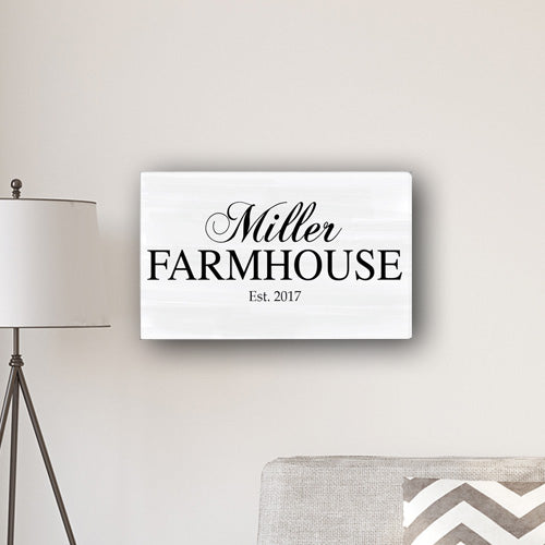 "Personalized Modern Farmhouse 14"" x 24"" Canvas - Way Up Gifts"