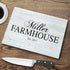 Personalized Glass Cutting Board | Farmhouse - Way Up Gifts