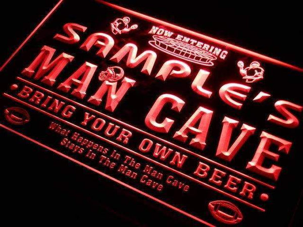 Personalized Football Man Cave LED Neon Light Sign - Way Up Gifts