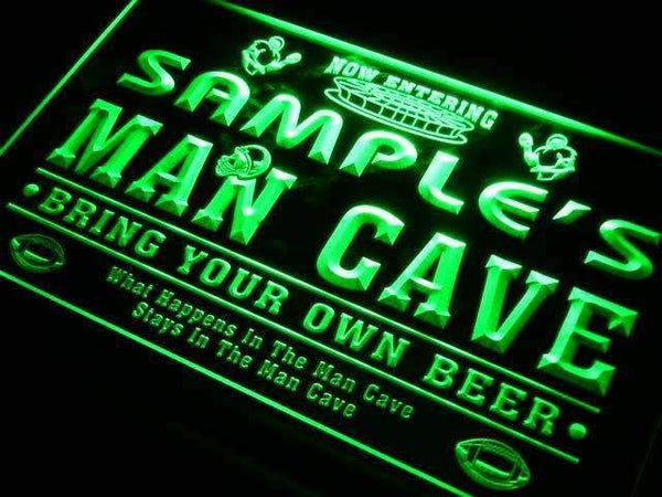Personalized Football Man Cave Neon Sign (LED)-Way Up Gifts