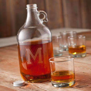 Personalized Glass Whiskey Growler