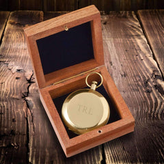 Engraved Gold Compass