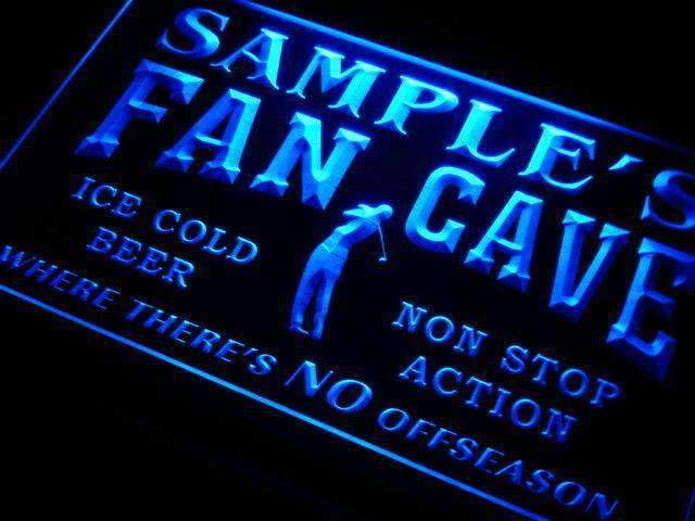 Personalized Golf Fan Cave LED Neon Light Sign - Way Up Gifts