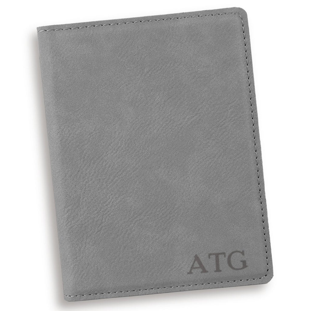 Personalized Gray Passport Cover
