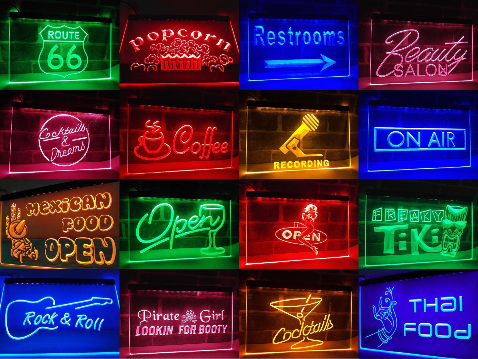 af881d427 Personalized Guitar Lounge Bar LED Neon Light Sign Businesss   LED Signs    Custom   Personalized