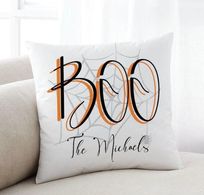 Personalized Boo Halloween Throw Pillow - Way Up Gifts