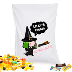 4 Designs Personalized Girls Halloween Treat Pillowcases