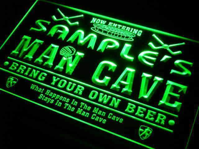 Personalized Hockey Man Cave LED Neon Light Sign - Way Up Gifts