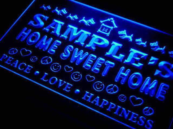 Personalized Home Sweet Home LED Neon Light Sign - Way Up Gifts