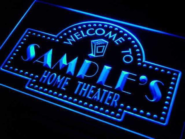 Personalized Home Theater LED Neon Light Sign - Way Up Gifts