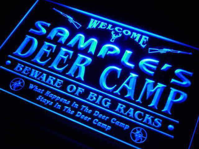 Personalized Hunting Deer Camp LED Neon Light Sign - Way Up Gifts