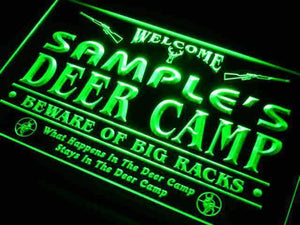 Personalized Hunting Deer Camp Neon Sign (LED)-Way Up Gifts