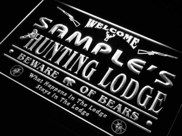 Personalized Hunting Lodge LED Neon Light Sign - Way Up Gifts