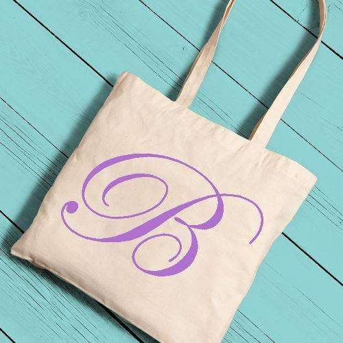 Personalized Initial Canvas Tote Bag - Way Up Gifts