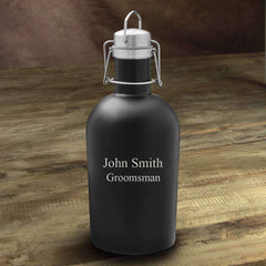 Personalized Matte Black Insulated Growler
