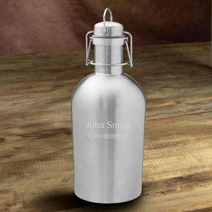 Personalized Insulated Beer Growler - Stainless Steel