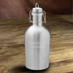 Personalized Stainless Steel Silver Insulated Beer Growler