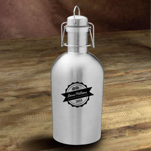 Personalized Insulated Stainless Steel Growler