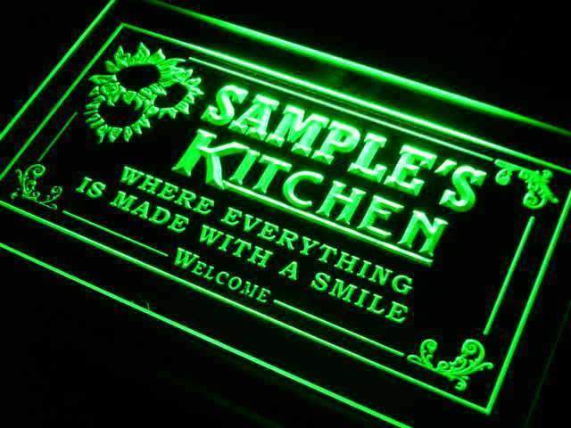 Personalized Kitchen II LED Neon Light Sign - Way Up Gifts