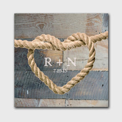Personalized Couples Knot Canvas Signs