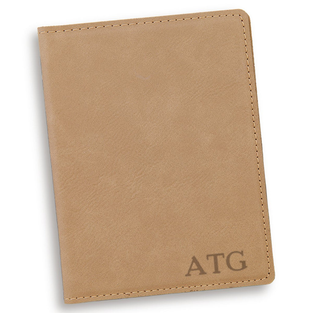 Personalized Light Brown Passport Cover