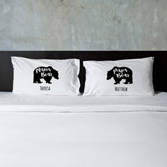 Personalized Bear Pillow Case Set for Parents