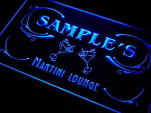 Personalized Martini Lounge Neon Sign (LED)-Way Up Gifts