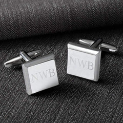 Engraved Men's Modern Cufflinks