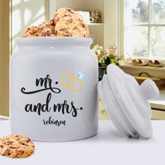 Personalized Couples Wedding Cookie Jar
