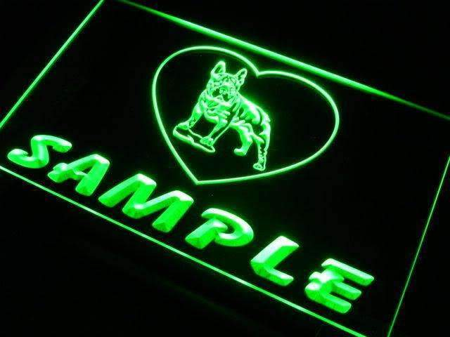 Personalized Name French Bulldog LED Neon Light Sign - Way Up Gifts
