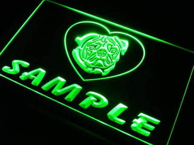 Personalized Name Pug Dog LED Neon Light Sign - Way Up Gifts