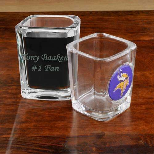 Personalized Official NFL Shot Glass  Personalized Gifts - Way Up Gifts