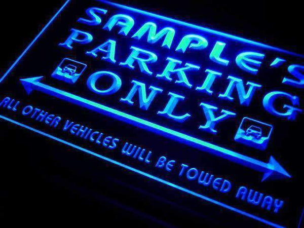 Personalized Parking Only LED Neon Light Sign  Businesss > LED Signs > Custom & Personalized Neon Signs > Personalized Neon Signs - Way Up Gifts