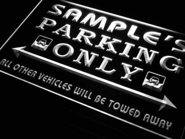 Personalized Parking Only LED Neon Light Sign - Way Up Gifts