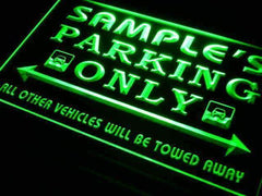 Personalized Parking Only LED Neon Light Sign