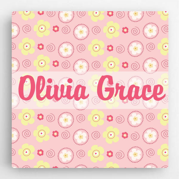 Personalized Pattern Kids Canvas Sign-Girl - Way Up Gifts