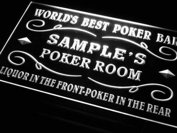 Personalized Poker Bar Room LED Neon Light Sign - Way Up Gifts