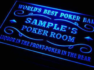 Personalized Poker Bar Room Neon Sign (LED)-Way Up Gifts