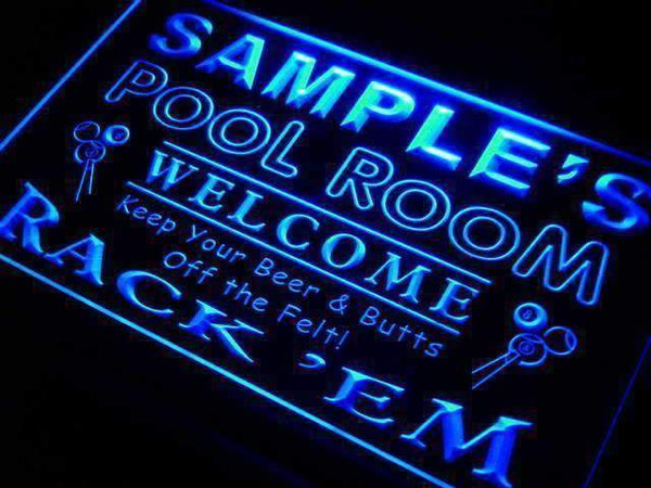 Personalized Pool Room Billiards LED Neon Light Sign - Way Up Gifts