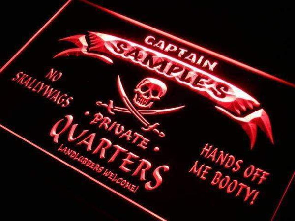 Personalized Private Quarters Pirate LED Neon Light Sign - Way Up Gifts
