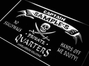 Personalized Private Quarters Pirate Neon Sign (LED)-Way Up Gifts