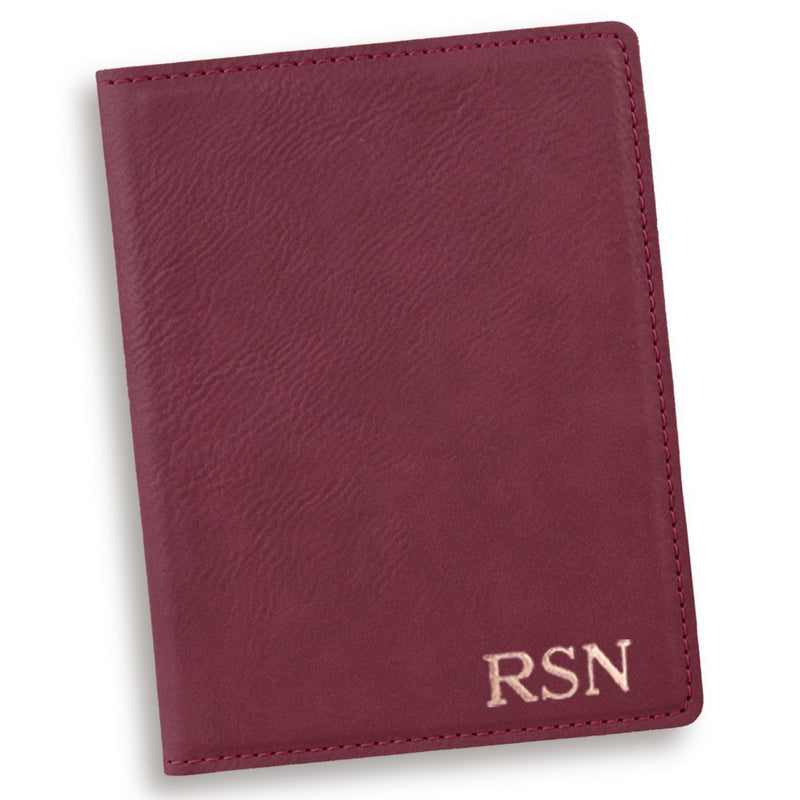Personalized Rose Red Passport Cover - Way Up Gifts