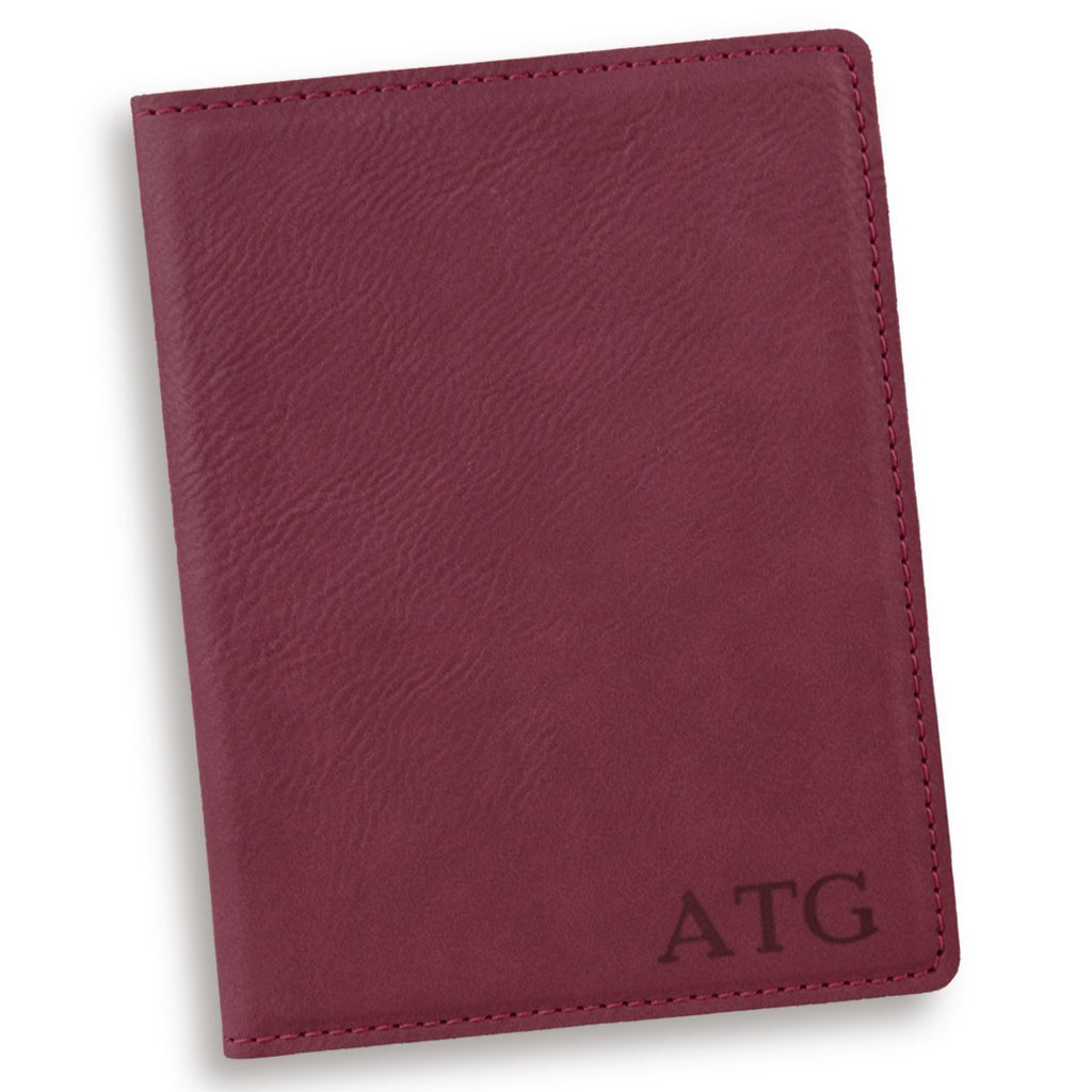 Personalized Rose Red Passport Cover
