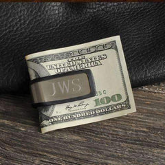 Engraved Stainless & Rubber Money Clip