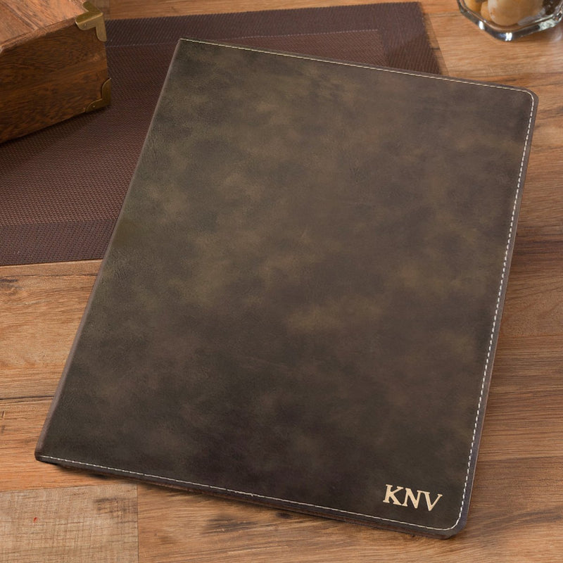 Personalized Rustic Business Portfolio with Notepad - Way Up Gifts