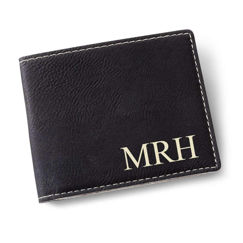 Personalized Classic Black Wallet - Way Up Gifts