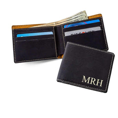 Personalized Classic Black Wallet