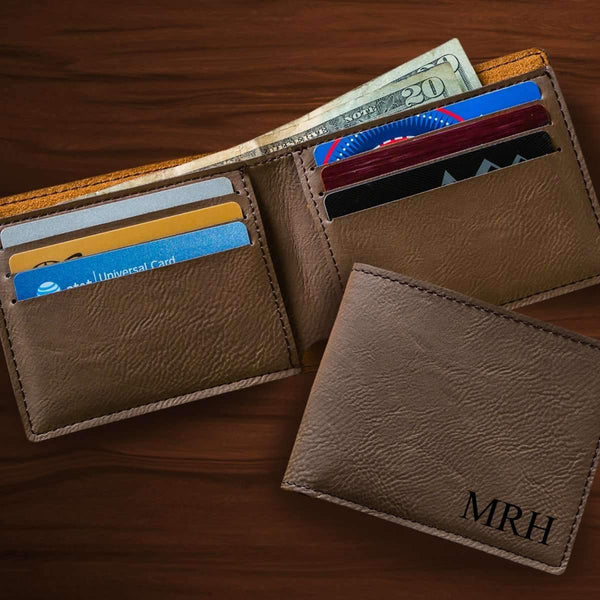Personalized Classic Dark Brown Wallet - Way Up Gifts
