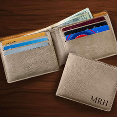Personalized Classic Tan Wallet