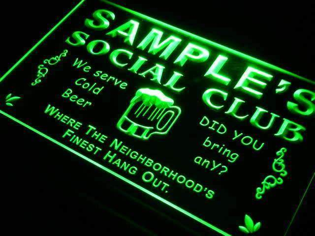 Personalized Social Club LED Neon Light Sign - Way Up Gifts